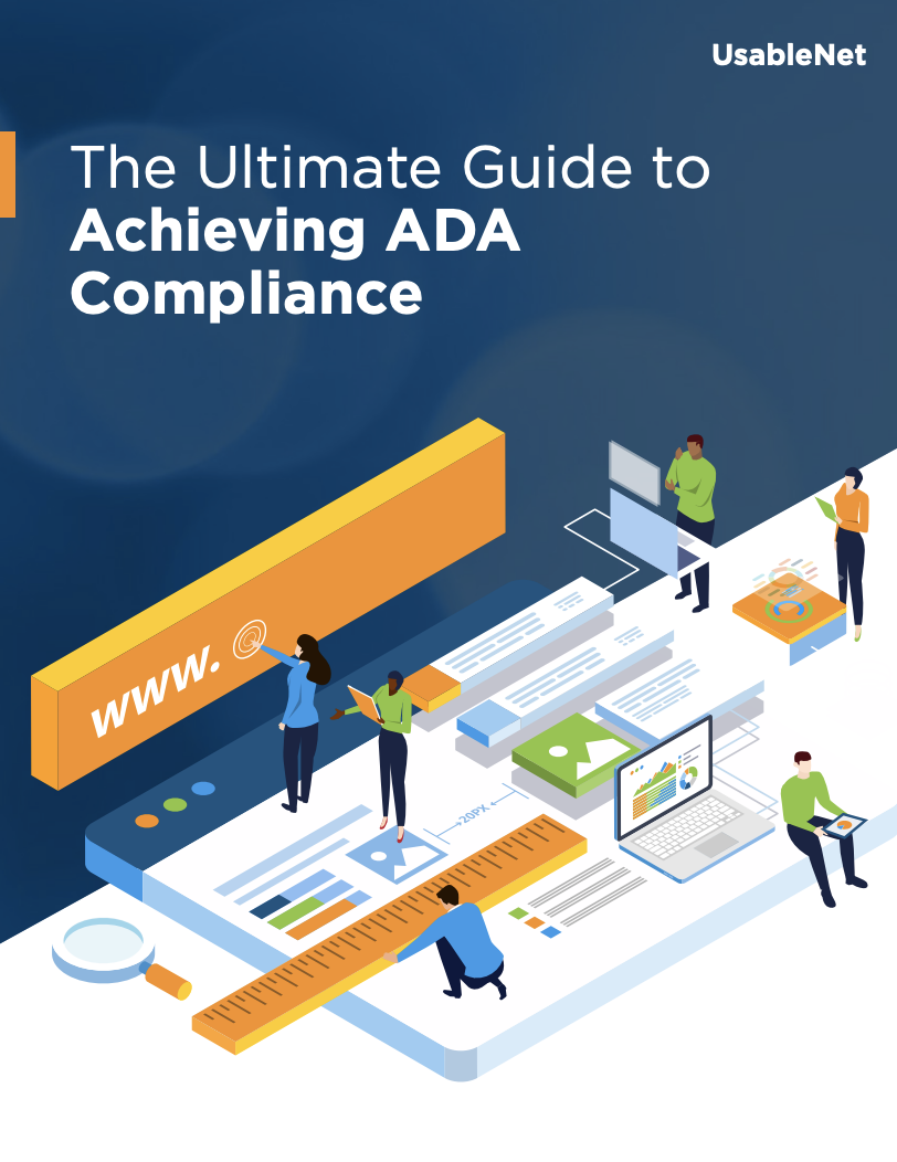 Ebook Cover: The Ultimate Guide to Achieving ADA Compliance