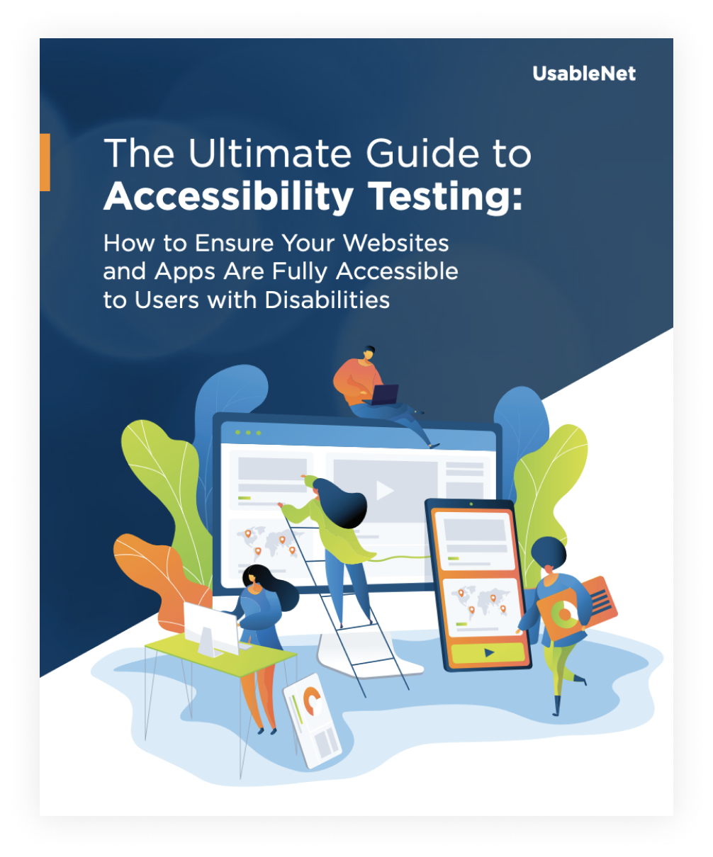 Cover Page for The Ultimate Guide to Accessibility Testing